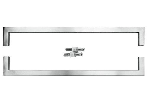 Poignées de porte Cubica 20/500 acier inoxydable paire pour verre