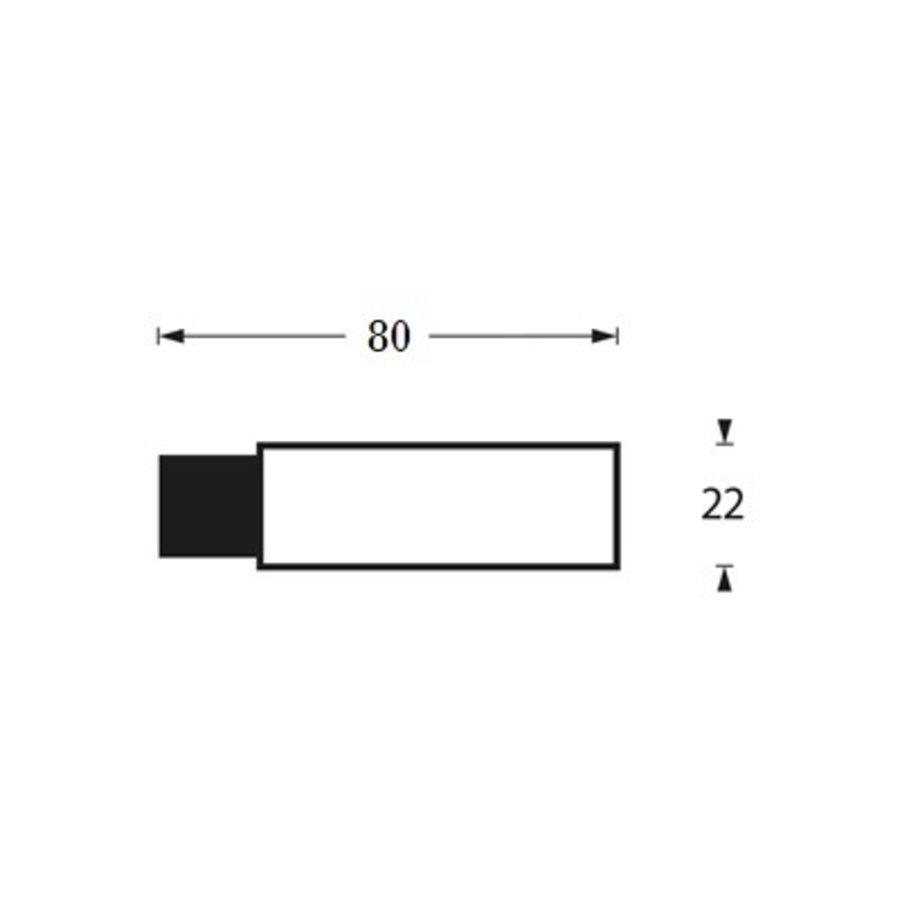 Intersteel Türstopper Wandhalterung ø22x80mm schwarz