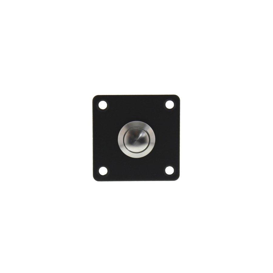 Intersteel Doorbell square stainless steel / matte black