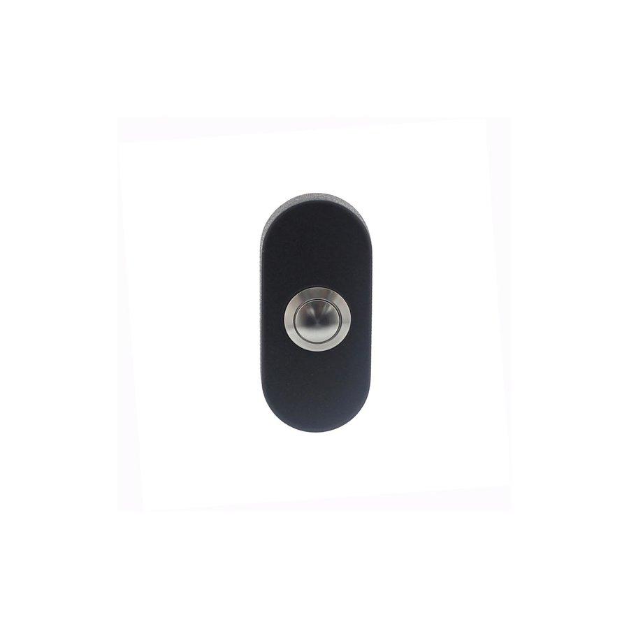 Intersteel Doorbell oval concealed 65x30x10 stainless steel / matte black