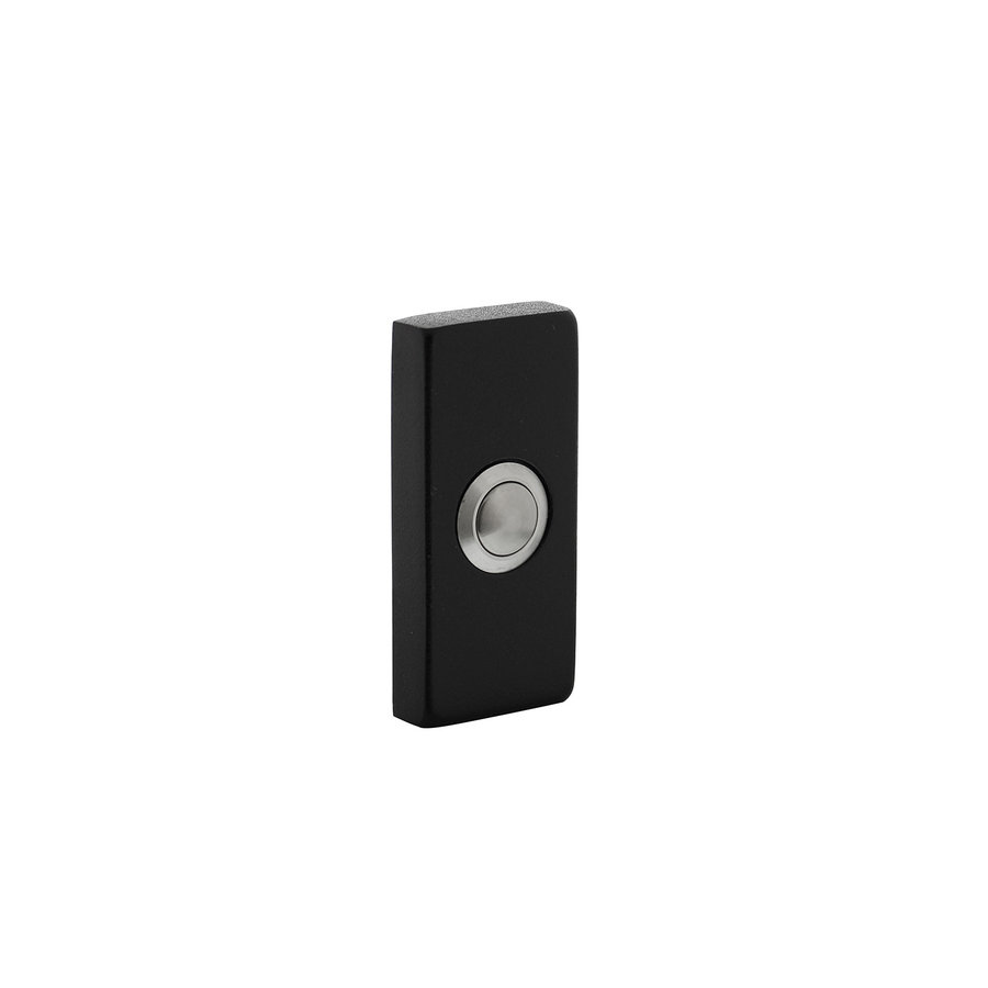 Intersteel Deurbel rechthoekig verdekt 65x30x10mm rvs zwart