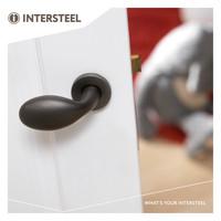 Intersteel Button Hocker Drop auf Rosette Paar mattschwarz