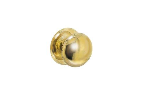 Intersteel Front door knob heavy brass unlacquered