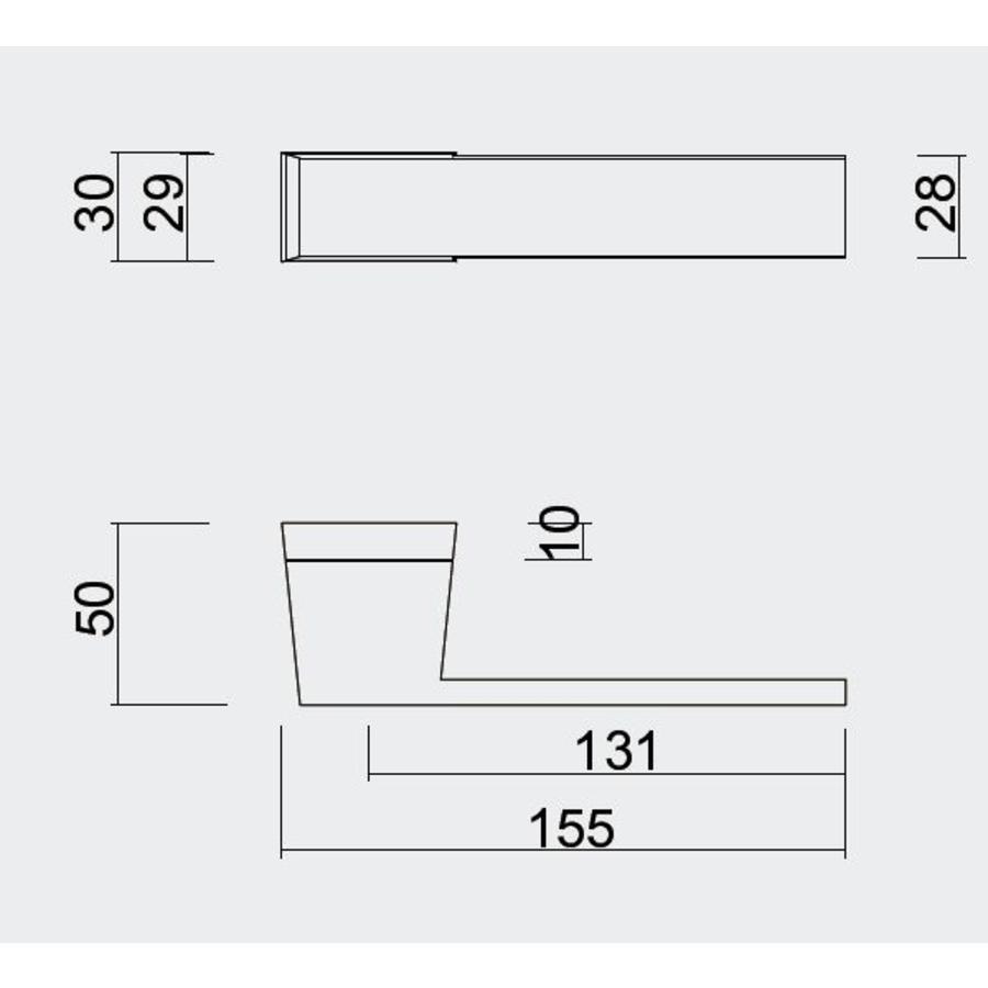 Witte deurklinken  X -Treme wit met sleutelplaatjes