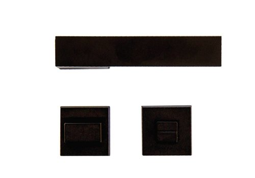 Black door handles X-Treme with WC fittings