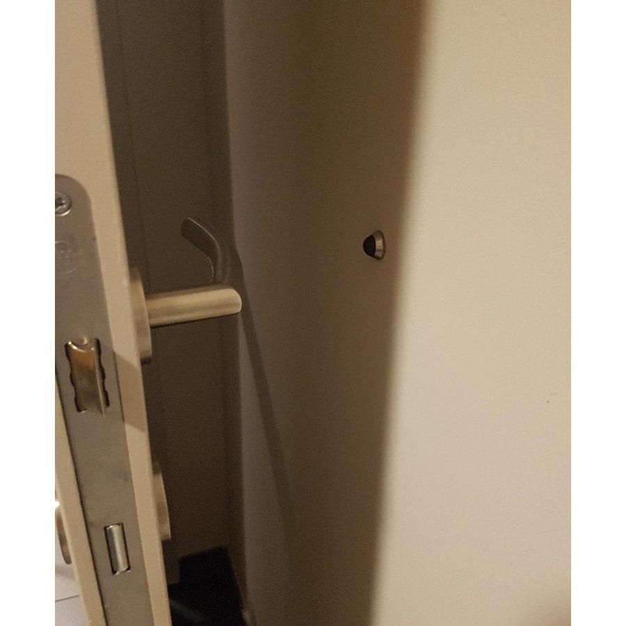 Super discrete RVS deurstopper voor wandmontage