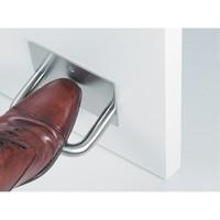 Ouvre-pied en acier inoxydable pour portes de WC centrales
