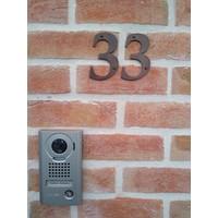 Huisnummer 3 roest 106mm