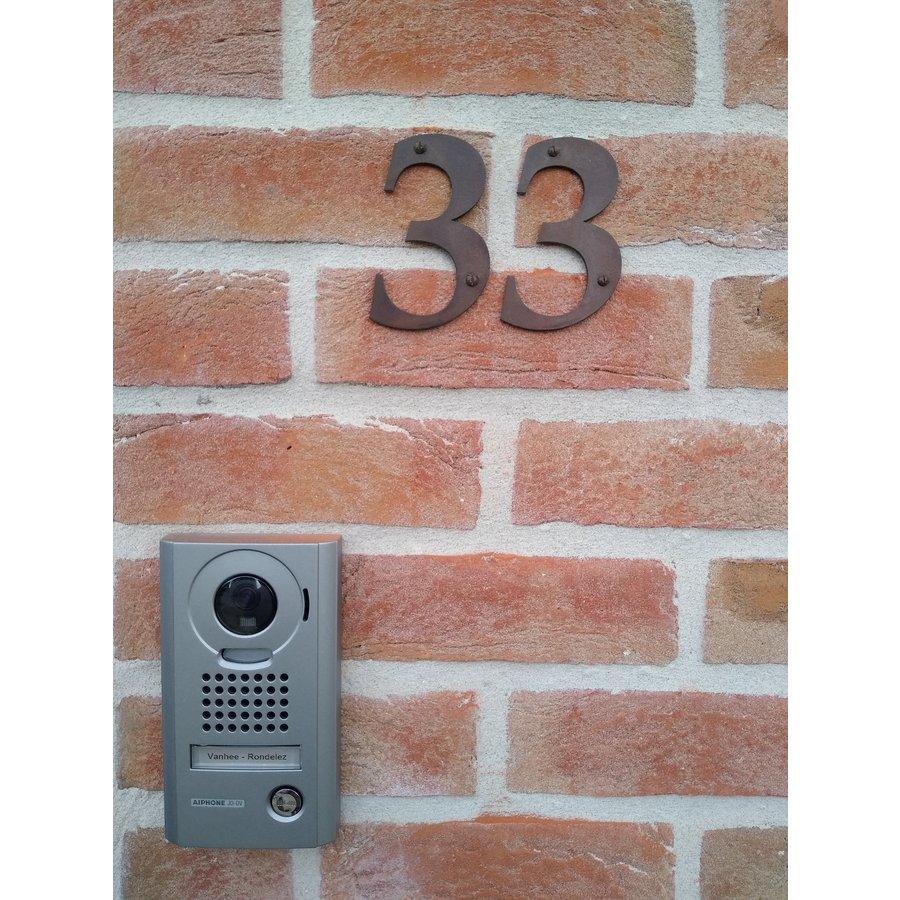 Huisnummer roest 3