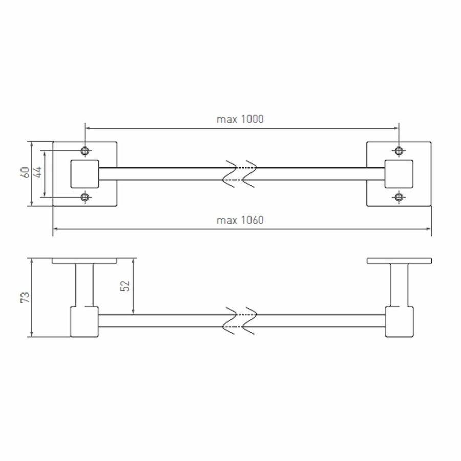 STÜCKHALTER 2 ENDHALTERUNGEN Q ROHMETALL (RM) 1000 mm