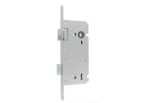 Serrure à clé Litto aspect acier inoxydable 110/55 avec plaque frontale droite