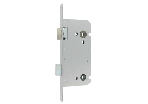 Litto WC lock 116/45 stainless steel look with rounded front plate 260x22mm