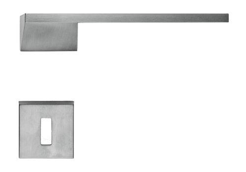 Poignées de porte en acier inoxydable Seliz avec plaques à clés