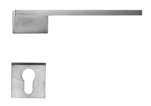 Poignée de porte Seliz aspect inox + cyl