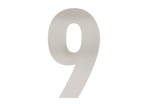 Stainless steel house number 9 - XXL 500mm