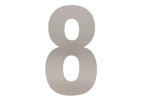 Numéro de maison en acier inoxydable 8 - XXL 500mm