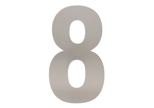 Stainless steel house number 8 - XXL 500mm