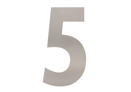 Stainless steel house number 5 - XXL 500mm