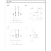 SET TOILET WC /QU RUW METAAL (RM)