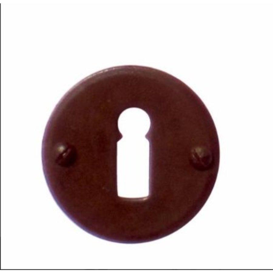 1 plaque de clé rouille autour
