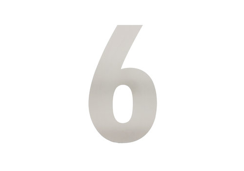 HOUSE NUMBER 6 XL HEIGHT 300MM STAINLESS STEEL