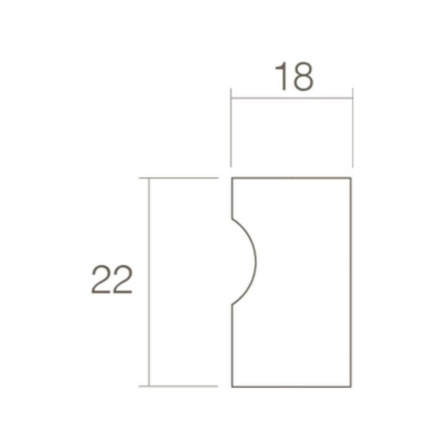 Fingergriff des Intersteel Furniture-Knopfes ø18mm schwarz