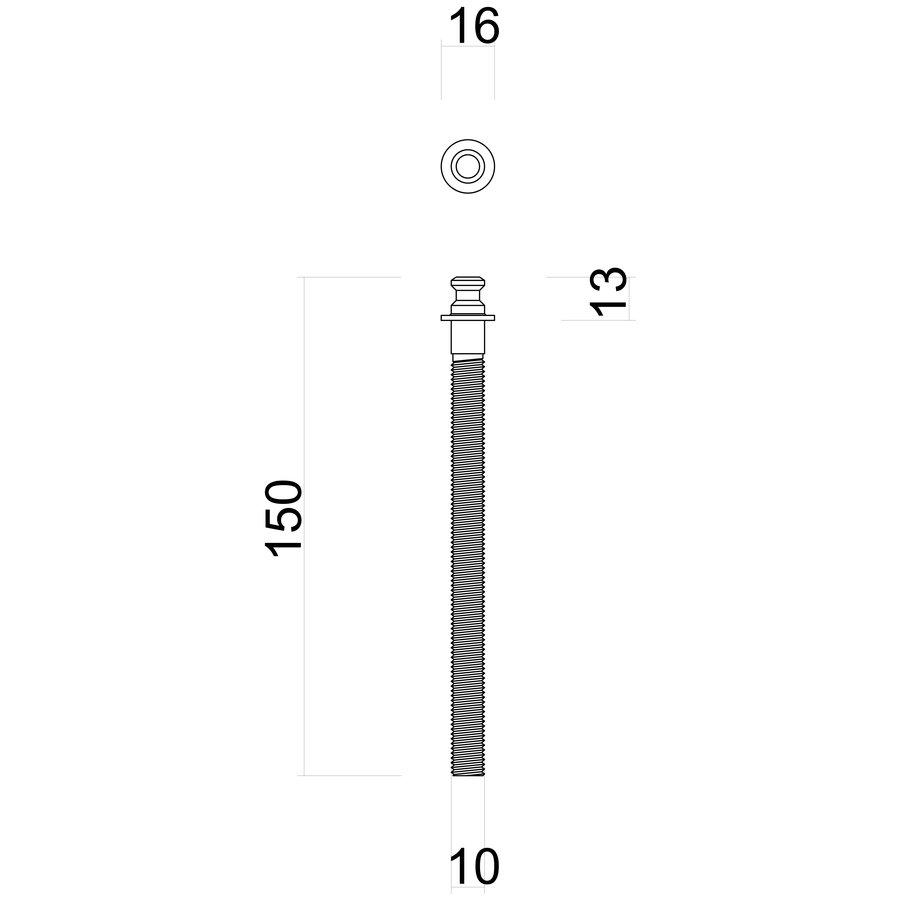 BEVESTIGINGSSET DEURGREEP INOX PLUS PER PAAR deurdikte >3CM
