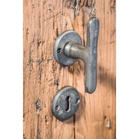 """PAIR OF DOOR HANDLE PHT """"T + T"""" / 50 RAW METAL (RM) without BB"""