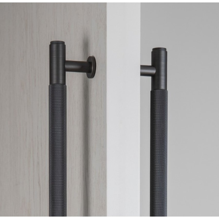 Double door handle from B&P in smoked bronze