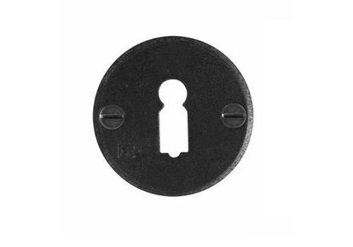 1 Sleutelplaatje - verouderd ijzer - zwart