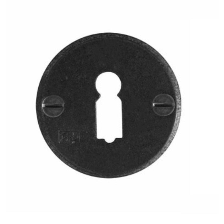 1 Sleutelplaatje - verouderd ijzer - zwart py