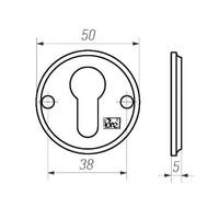 1 Zylinderplatte - gealtertes Eisen - schwarz