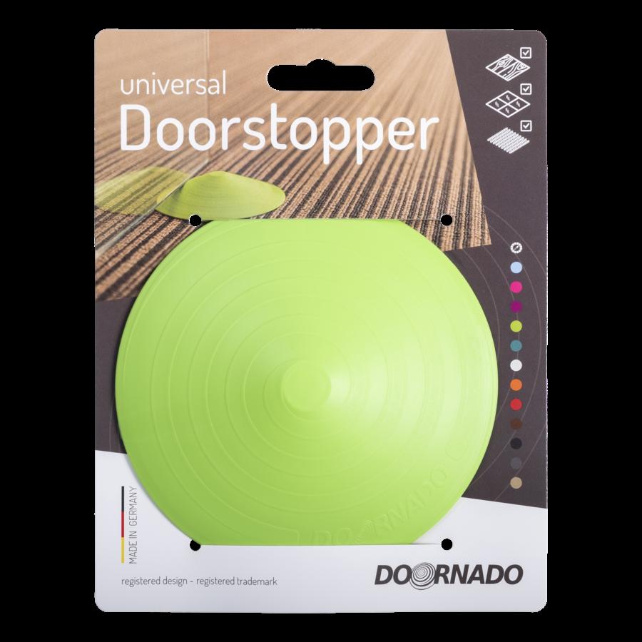 Doorstop Doornado Lime on card yellow-green