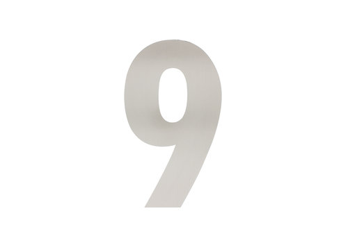 HOUSE NUMBER 9 XL HEIGHT 300MM STAINLESS STEEL