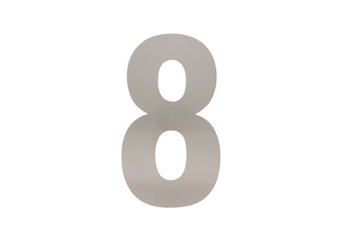 HOUSE NUMBER 8 XL HEIGHT 300MM STAINLESS STEEL