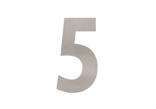 Stainless steel house number 5 - XL 300mm
