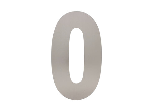 HOUSE NUMBER 0 XL HEIGHT 300MM STAINLESS STEEL