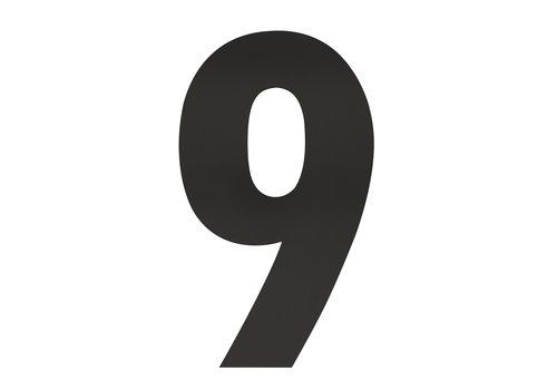 HOUSE NUMBER 9 XXL HEIGHT 500MM STAINLESS STEEL / MATT BLACK