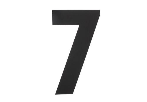 HOUSE NUMBER 7 XXL HEIGHT 500MM STAINLESS STEEL / MATT BLACK