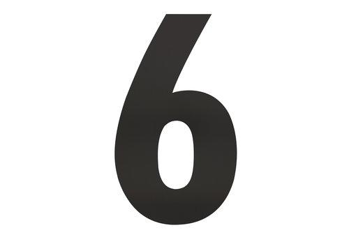Schwarze Hausnummer 6 - XXL 500mm