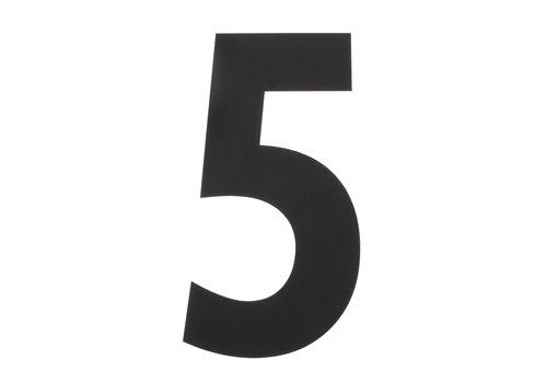Schwarze Hausnummer 5 - XXL 500mm