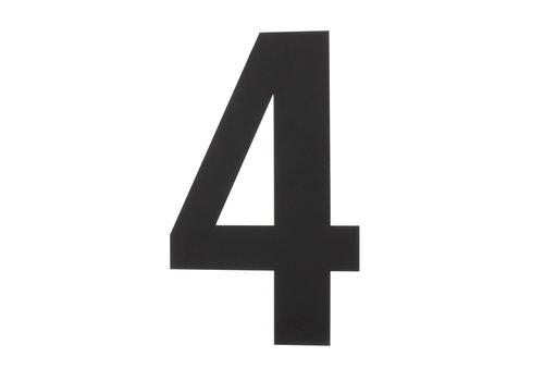 HOUSE NUMBER 4 XXL HEIGHT 500MM STAINLESS STEEL / MATT BLACK