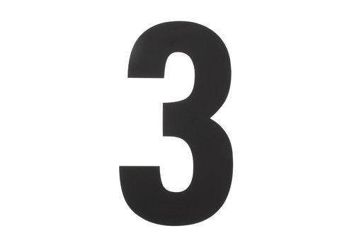 HOUSE NUMBER 3 XXL HEIGHT 500MM STAINLESS STEEL / MATT BLACK