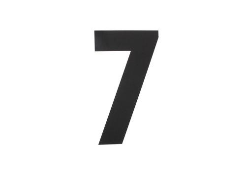 HOUSE NUMBER 7 XL HEIGHT 300MM STAINLESS STEEL / MATT BLACK