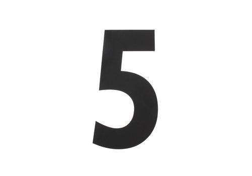 HOUSE NUMBER 5 XL HEIGHT 300MM STAINLESS STEEL / MATT BLACK