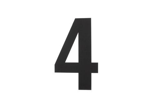 HOUSE NUMBER 4 XL HEIGHT 300MM STAINLESS STEEL / MATT BLACK