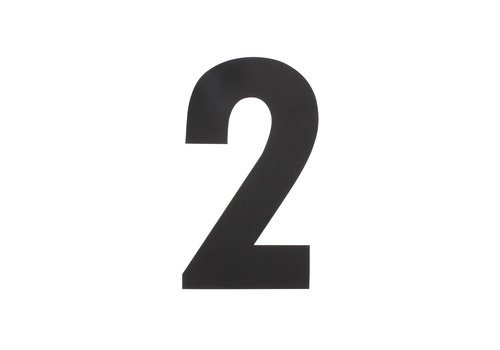 HOUSE NUMBER 2 XL HEIGHT 300MM STAINLESS STEEL / MATT BLACK