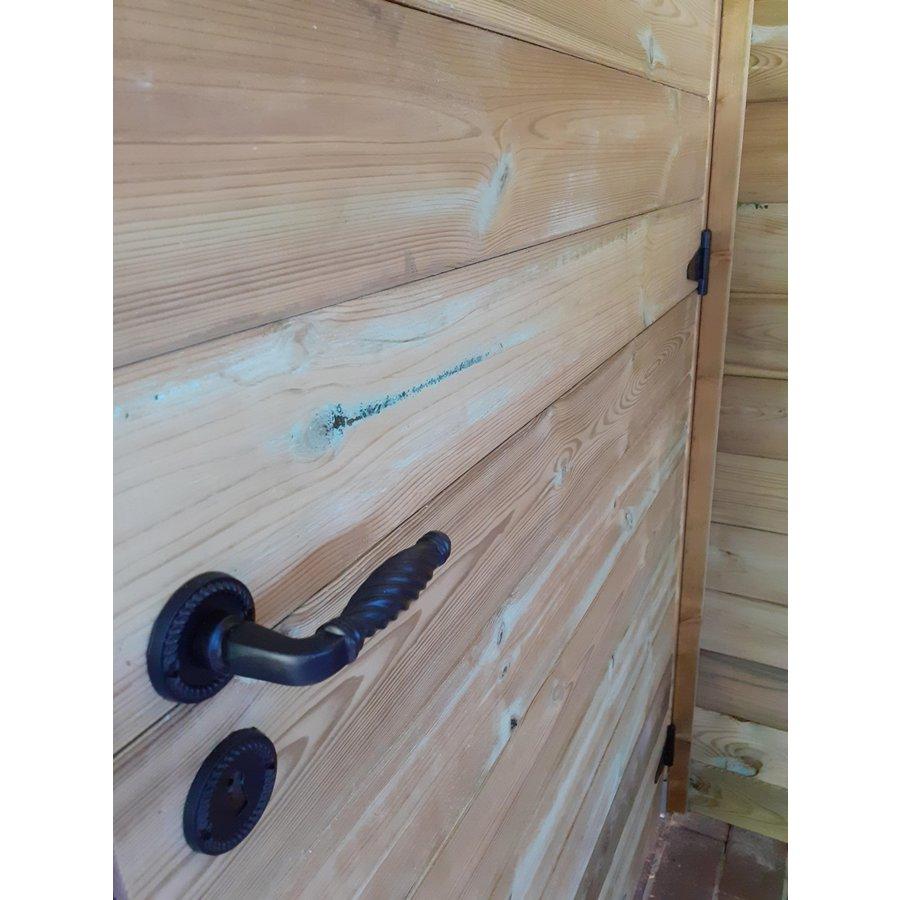 Zwarte deurklinken Nikita met sleutelplaatjes