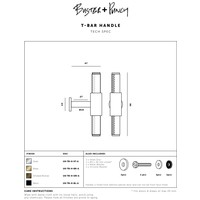 """Furniture handle """"T-Bar"""" from Buster & Punch stainless steel"""