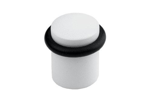 Butée de porte au sol en version blanc uni